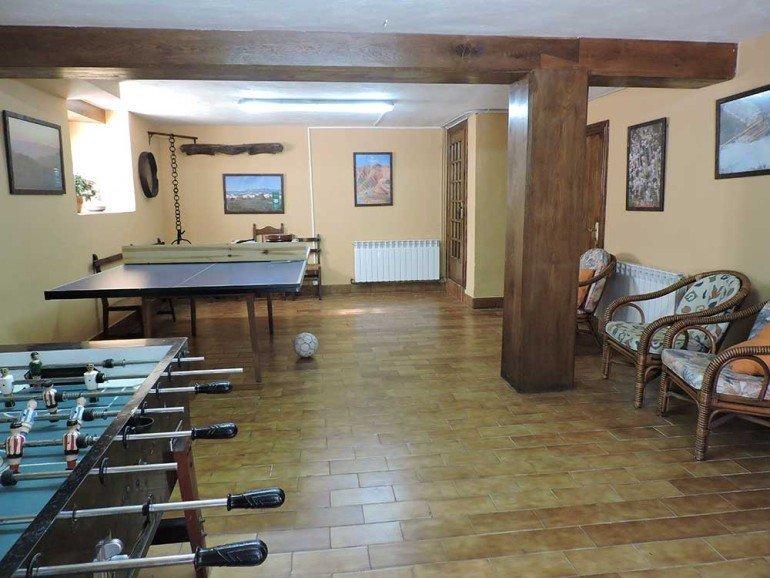 Salón de juegos en casa rural Loperena, Goldaratz :: Agroturismo en Navarra