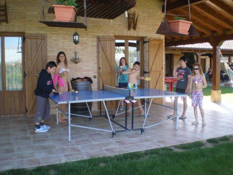 Zona de juegos en casa rural Haritzalotz, Zurucuáin, Tierra Estella :: Agroturismo en Navarra