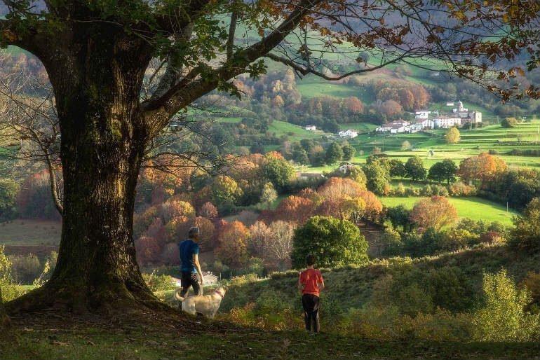 Senderismo en Navarra (Foto: Turismo de Navarra) :: Abelore, casas rurales de agroturismo en Navarra