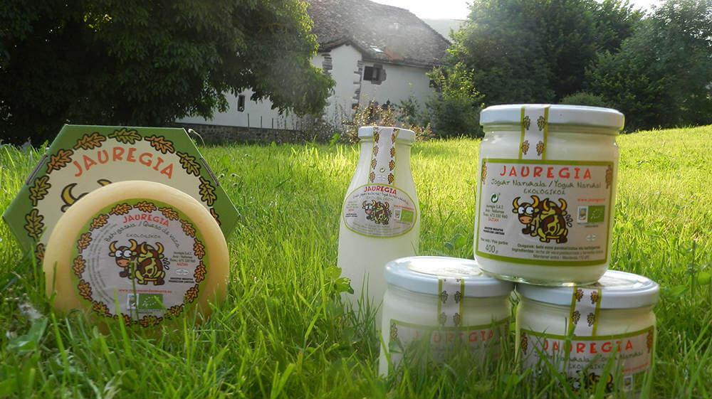 Queso y yougur ecológico de la quesería Jauregia, valle de Baztán :: Abelore, Casas Rurales de Agroturismo de Navarra