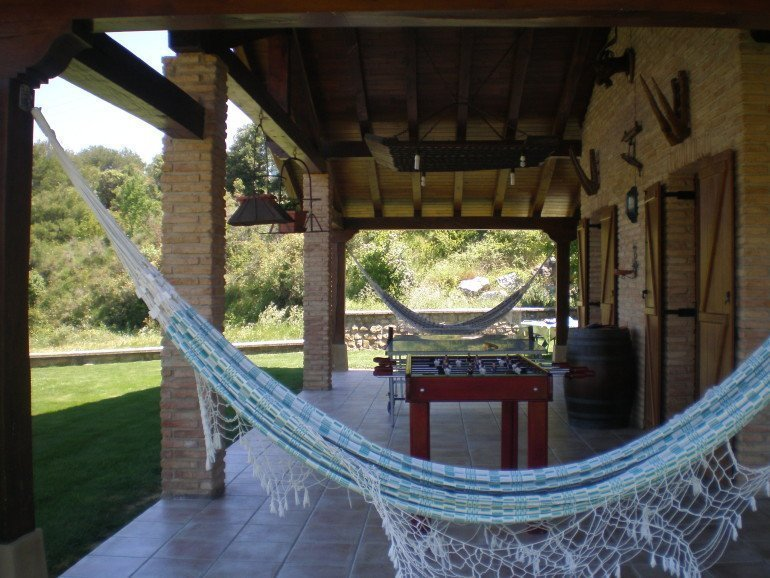 Zona de juegos y relax en casa rural Haritzalotz, Zurucuáin, Tierra Estella :: Agroturismo en Navarra