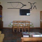 Salón-comedor en casa rural Haritzalotz, Zurucuáin, Tierra Estella :: Agroturismo en Navarra