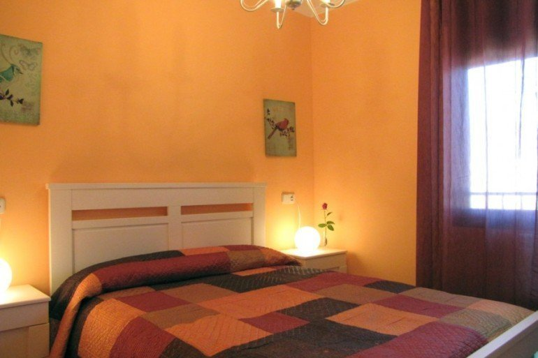 Dormitorio de casa rural Ibarbasoa :: Agroturismos en Navarra